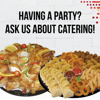 Ask us about catering